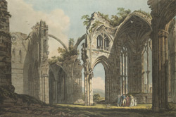 Inside View of Melross Abbey 92.d